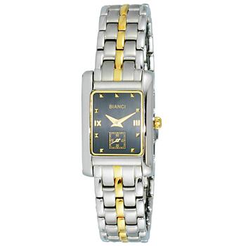 Le Chateau (Bianci) Swiss Women's Silver & Gold Tone Black Face Watch,  BC1810-L2TG-BK (Retail at $405.00)