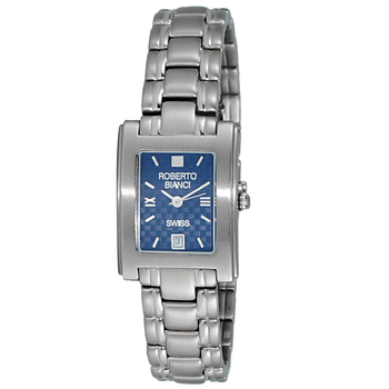 Le Chateau (Bianci) Swiss Women's Silver Tone & Blue Dial Stainless Steel Watch,  (Retail at MSRP: $495.00)