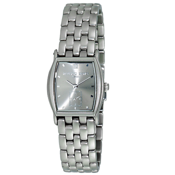 Le Chateau (Bianci) Swiss Women's Tonneau Shape All Stainless Steel Silver Tone Sunray Dial Watch,  (Retail at - MSRP $:495.00)