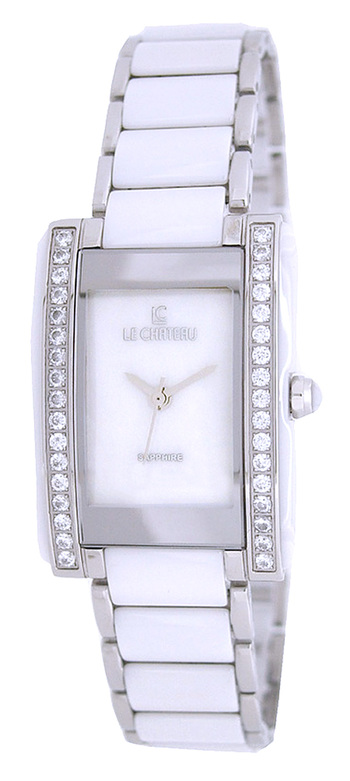 Le Chateau Ladies Watch - High-Tech Ceramic, Austrian Stone Accent, Brand New) RETAIL at  $390.00