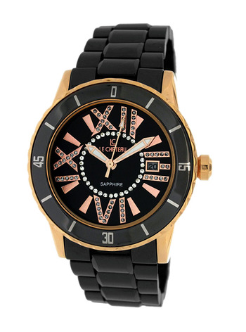 Le Chateau Ladies Watch - High-Tech Ceramic, (Brand New)  LC-5870LRG_BK - RETAIL at  $390.00