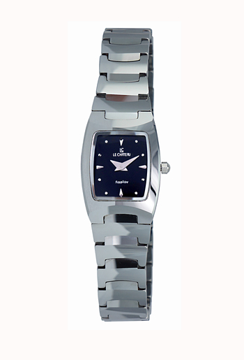 Le Chateau Ladies Watch,  Tungsten case and band, (Brand New), LC-3504L-BK- RETAIL at  $199.00