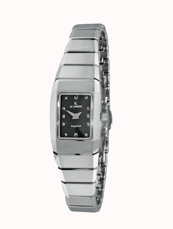 Le Chateau Ladies Watch,  Tungsten case and band, (Brand New), LC-5852L-BK - RETAIL at  $199.00- RETAIL at  $199.00