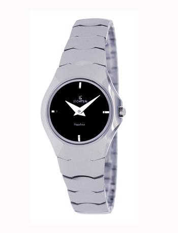 Le Chateau Ladies Watch,  Tungsten case and band, (Brand New), LC-5854L-BK- RETAIL at  $199.00