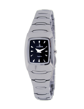 Le Chateau Ladies Watch,  Tungsten case and band, LC-5847-BK - RETAIL at  $199.00