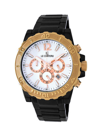 Le Chateau Men's Watch - High-Tech Ceramic, (Brand New) LC-5417M-IPB-WTR - RETAIL at  $420.00