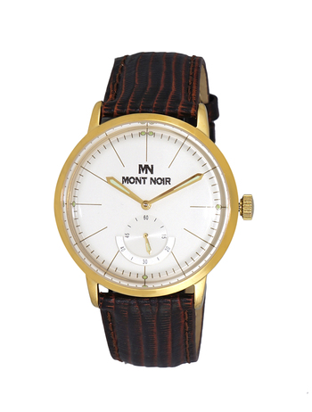 LE CHATEAU (MONT NOIR) - 21 JEWELS AUTOMATIC MECHANICAL MOV'T. GENUINE LEATHER BAND, MN9044-MG/WT, RETAIL AT $560.00