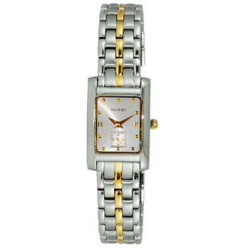 Le Chateau (Na Hoku) Women's Swiss Silver & Gold tone Quartz Watch. NH1810-L2TGSV (Retail at - MSRP: $495.00)