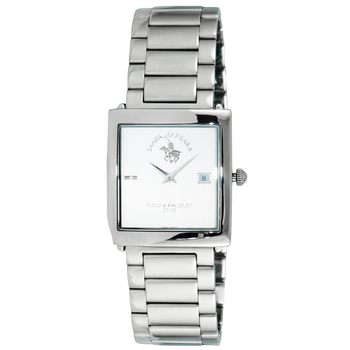 Le Chateau (Polo) Women's Swiss 2 Hand Polished Silver Tone Stainless Steel Watch, , Retail at (MSRP $:495.00)