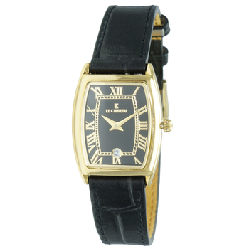 Le Chateau Women's Tonneau, Roman Numerals, Stainless Steel & Textured Leather Watch (MSRP: $425.00)