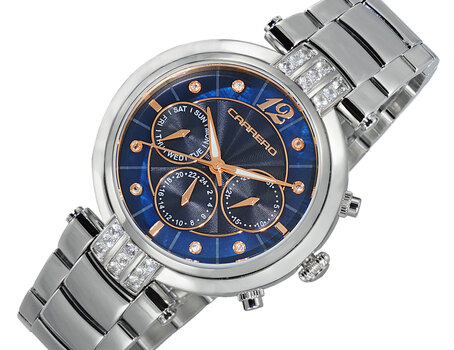 Lechateau  Adelina Collection, Blue Mother of Pearl Dial, Chronograph with Function Pusher, CL1S03BUGO