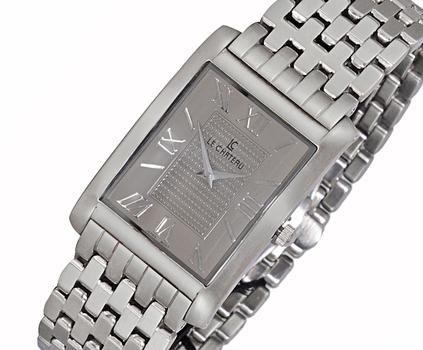 LeChateau (Bianci) Swiss Women's Silver & Gold Tone Black Face Watch,  BC1810-LBK (Retail at $405.00)