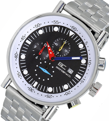 LeChateau CHRONOGRAPH MOVEMENT, STAINLESS STEEL CASE AND BAND,  MULTI- COLOR HANDS , LCBC2221-MBK - RETAIL AT $675.00