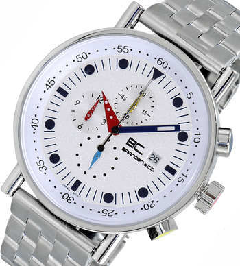 LeChateau CHRONOGRAPH MOVEMENT, STAINLESS STEEL CASE AND BAND,  MULTI- COLOR HANDS , LCBC2225-WT - RETAIL AT $675.00