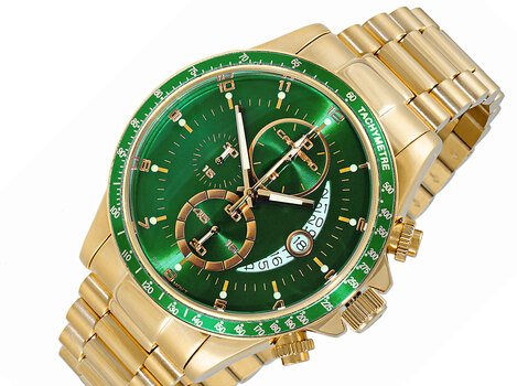 LeChateau Chronograph, Sunray Date dial, with Function Pusher,  C2G111GN-GN