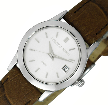 LeChateau, Date -3 Hand Dial, Stainless Steel & Case, Genuine Band, LCRB0001-LWT- (MSRP: $299.00)