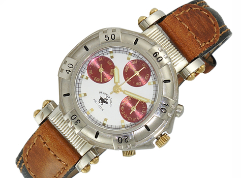 LECHATEAU, DAY-DATE DIAL, STAINLESS STEEL SILVERTNE,  LCPL1015-L -  RETAIL AT $399.00