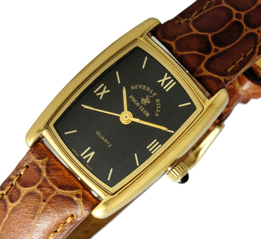 LeChateau GOLD TONE, STAINLESS STEEL, JAPAN MOV'T , POLO-SR621_LGBK, RETAIL AT $299.00