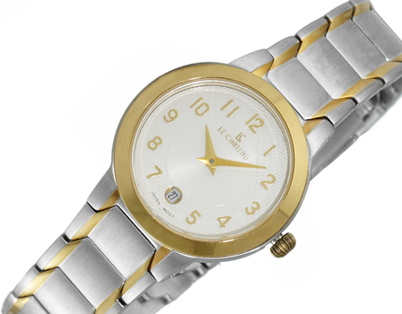 LECHATEAU LADIES JAPAN DATE DIAL, LC1111-LTTSV, RETAIL AT $399.00.