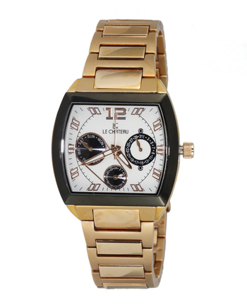 LeChateau Ladies Watch - 3 Hands, Calendar Dial (Brand New),LC5420-LRG/WT -  RETAIL at  $350.00