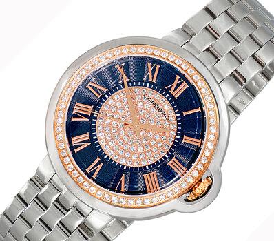 LeChateau Ladies Watch, Swiss Quartz Movement, Austrian Setting, LCL1S04BU_RG, Retail at MSRP : $1,320.00
