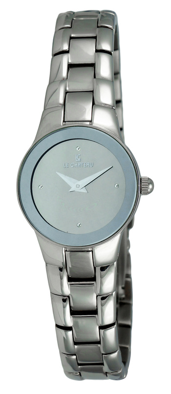 LeChateau Ladies Watch,  Tungsten case and band, (Brand New), LC-7032L-SV - RETAIL at  $199.00