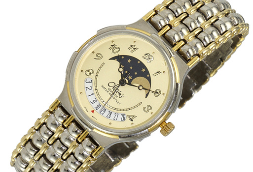 """LECHATEAU """"MAXIMS"""" DATE DIAL, MOON PHASE, LCMX405, RETAIL AT (MSRP: $299.00)"""