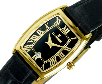 LeChateau Men's Watch - 3 Hands Dial, Date Window Gold tone   (Brand New) RETAIL at  $200.00