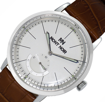 LECHATEAU (MONT NOIR) - 21 JEWELS AUTOMATIC MECHANICAL MOV'T. GENUINE LEATHER BAND, MN9044-MSV/BN RETAIL AT $560.00