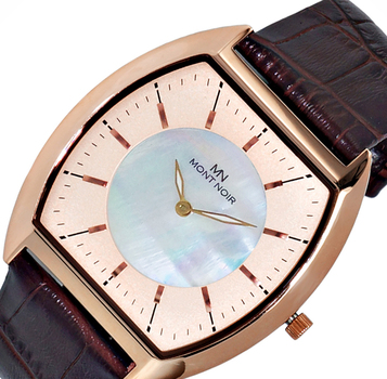 LECHATEAU (MONT NOIR) SLIM WATCH, MOTHER OF PEARL DIAL, MN2200-MRGR-BN, RETAIL AT $245.00