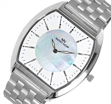 LECHATEAU (MONT NOIR) SLIM WATCH, MOTHER OF PEARL DIAL, MN2200-SV-MB, RETAIL AT $245.00