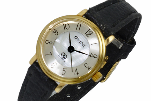 """LECHATEAU """"OMNI"""" , 3-HANDS DIAL MOTHER OF PEARL, LCOM337 RETAIL AT (MSRP: $299.00)"""