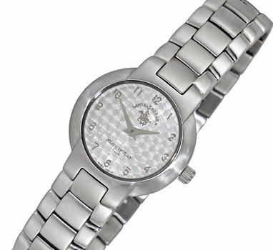 LeChateau (POLO) Wome's Two-Hands Textured Dial, Stainless Steel Case and Band, LCPOLO-1001SV -  (MSRP: $345.00)