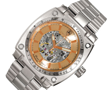 LeChateau - Skeleton Dial Automatic Watch, with Exhibition Back, LC1S777RG - Retail at (MSRP: $ 2,244.00)