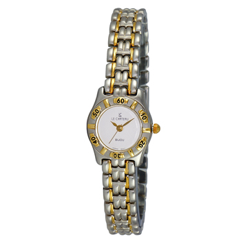 LECHATEAU Stainless Steel, 2-tone White  Dial, LC2145-2TWT, RETAIL $3450.0
