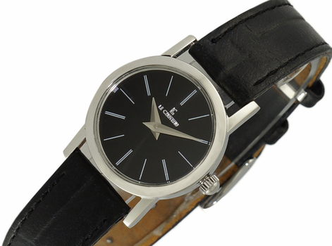 LECHATEAU, STAINLESS STEEL -BLACK DIAL,  LC7018-LBK -  RETAIL AT $299.00