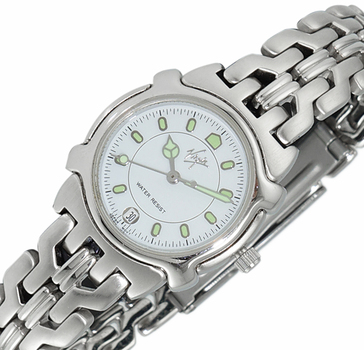 LECHATEAU - VIRGIN - STAINLESS STEEL , WHITE DATE -  DIAL STAINLESS STEEL,  LC-BJCJC-L2TWT -  RETAIL AT $399.00