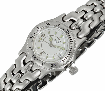 LECHATEAU - VIRGIN - STAINLESS STEEL , WHITE DATE -  DIAL STAINLESS STEEL,  LCVR1212-LWT -  RETAIL AT $399.00