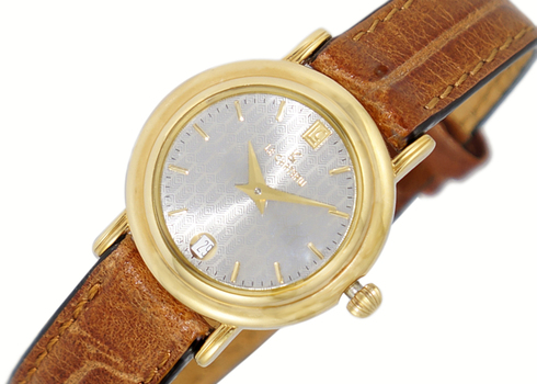 LeChateau Women's  Gold Tone White Dial,  LC0006-LGGRY_BN (Retail at $320.00)