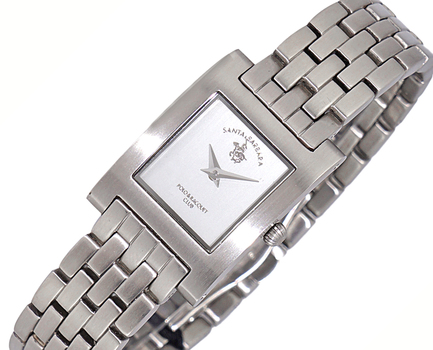 LeChateau Women's  White Dial, Stainless Steel & POLO-0005-WT - Retail at (MSRP: $395.00)