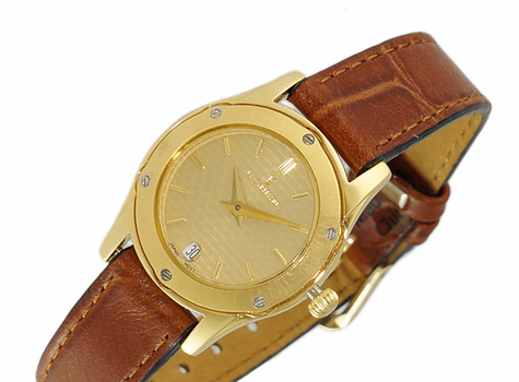 LECHATEAU, YELLOW DATE DIAL, STAINLESS STEEL GOLDTONE,  LCPL72943-L2TG -  RETAIL AT $399.00