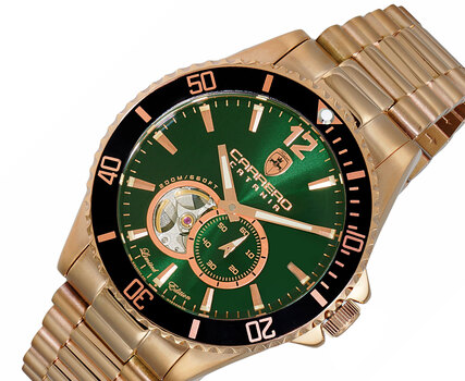 LeChateau-CR , Automatic Skeleton Sunray Dial , C1R010GNBK, Retail at MSRP: $2,124.00)