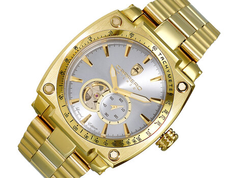 LeChateau-CR , Automatic Skeleton Sunray Dial  LC1G66GBU,   Retail at (MSRP: $2,004.00)