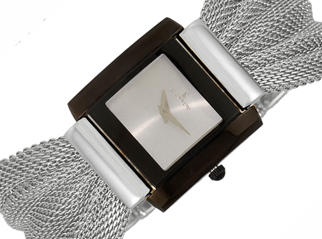 LeChateauMesh band,Goldtone, 2-hands Dial, LC7015-LIPSV-SV, Retail at $350.00