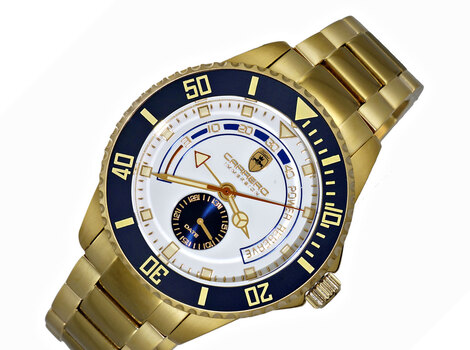 Lechateau-TC Automatic- Power reserve, Sunray dial, Date counter, Exhibition band, CG11BUSV,  Retail at (MSRP: $2,604.00)