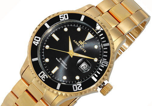 Men's  Sunray Date Dial, Rotating Bezel, AKZ3535-GBK, RETAIL AR (MSRP: $395.00)