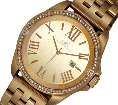 MID-SIZE Panthera Quartz Crystal Accented Two-tone Stainless Steel Bracelet Watch, AK6365-MBRG, RETAIL PRICE AT $600.00