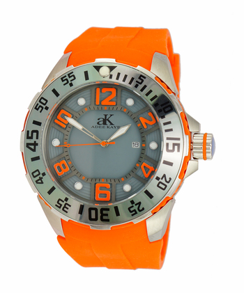 MIYOTA -JAPAN QUARTZ MOVEMENT, STAINLESS STEEL & PLASTIC, MINERAL CRYSTAL, AK7117-MRB/OR-GRY, RETAIL AT $350.00