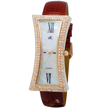 Mother of Pearl Dial, Genuine Leather Band, AK9715-LBN, Retail at $300.00
