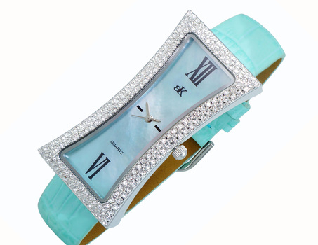 Mother of Pearl Dial, Genuine Leather Band, AK9715-LBU, Retail at $300.00